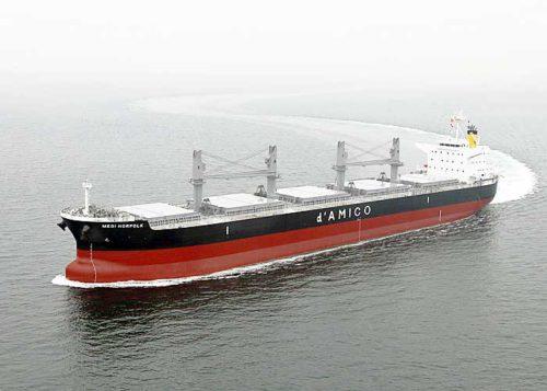 20190328mes 500x357 - 三井E&S造船/6万トン型ばら積み船「メディ ノーフォーク」完成