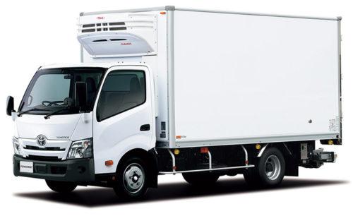 トヨエース TECS 中温冷凍車ワイドキャブ・ロングボディ・フルジャストロー・2t積・ディーゼル車・2WD オプション装着車