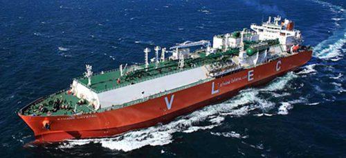 大型エタン輸送船