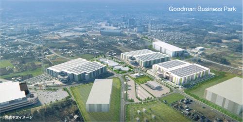 グッドマンビジネスパーク完成予定イメージ、左側の建物がステージ4