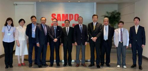 合弁会社設立時にSAMPOグループ本社での記念撮影