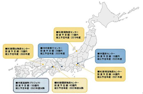 20190520cf 500x329 - C&FロジHD/2021年度までに埼玉県蓮田市など7か所で物流センター新設