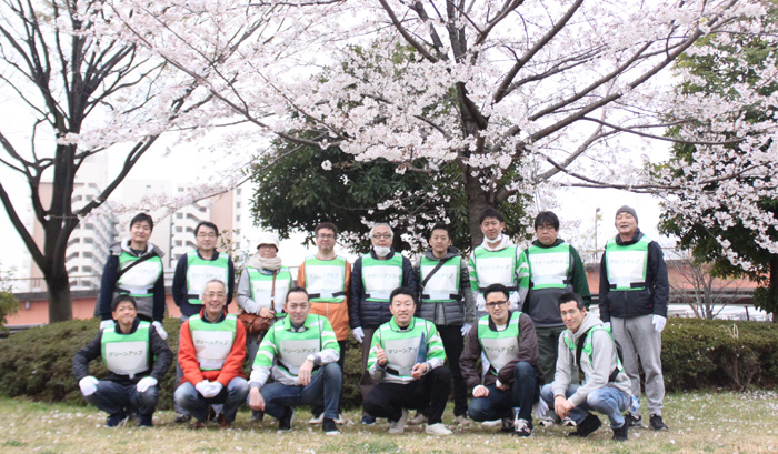 東京・「クリーンアップ活動」集合写真