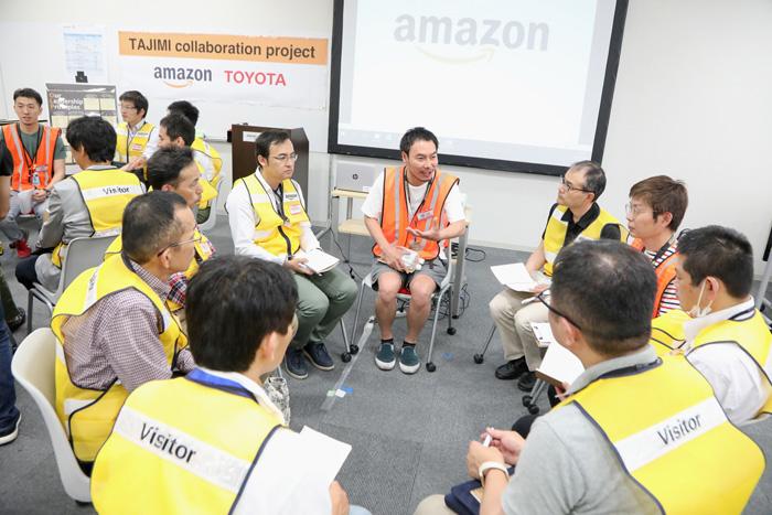 20190603amazon2 - アマゾン/多治見FCでトヨタとの「企業間交流プログラム」を実施