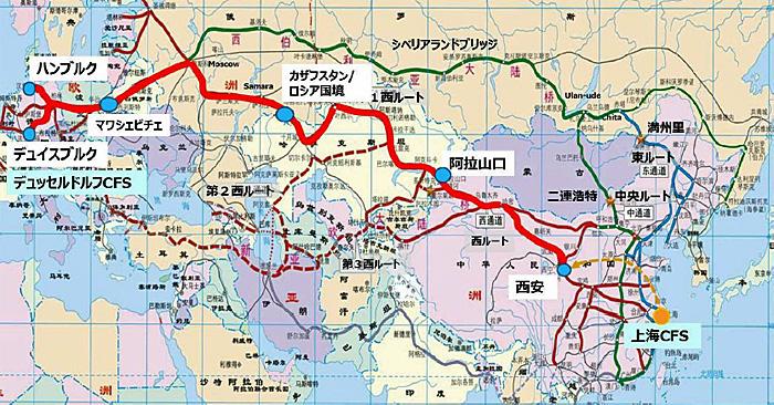 「Eurasia Train Direct」ルート図