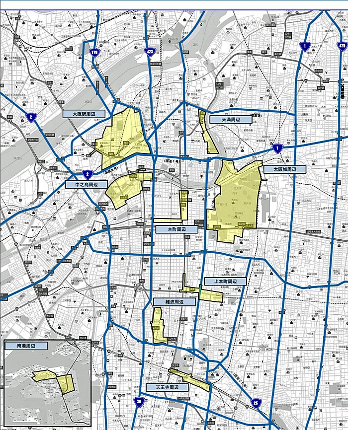一般道路の交通規制9エリア