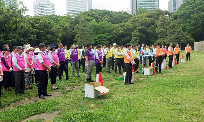 20190610nittsu21 - 日通/浜離宮恩賜庭園で清掃活動を実施