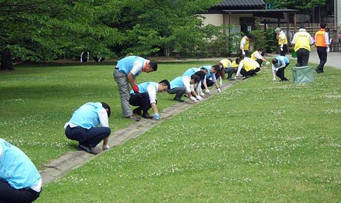 20190610nittsu22 - 日通/浜離宮恩賜庭園で清掃活動を実施
