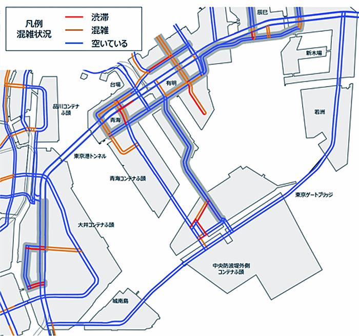7月25日の混雑マップ(一般道路・0:00~3:00)