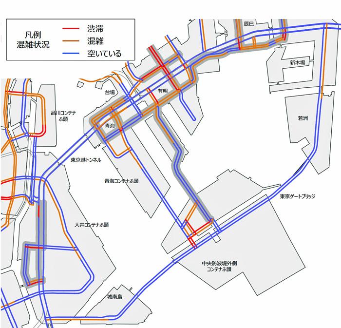 7月31日の混雑マップ(一般道路・9:00~10:00)