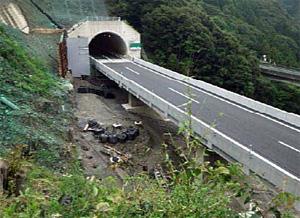 2019年7月1日時点で立川橋復旧完了