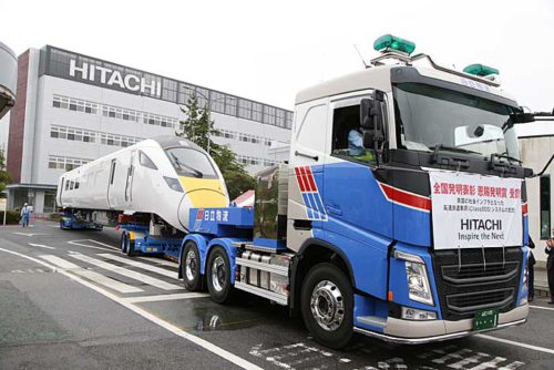 20190718hitachi 500x334 - 日立物流/英国高速鉄道車両を日中に陸送、3.5万人が見学