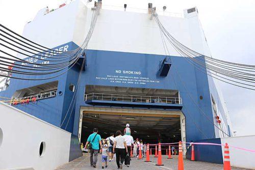 20190723nyk 500x334 - 日本郵船/横浜「うみ博」で巨大自動車船内部を一般公開