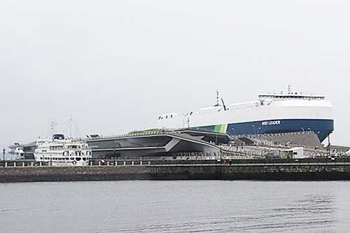 20190723nyk1 500x333 - 日本郵船/横浜「うみ博」で巨大自動車船内部を一般公開