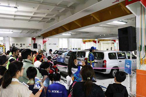20190723nyk3 500x334 - 日本郵船/横浜「うみ博」で巨大自動車船内部を一般公開