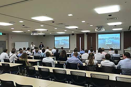 20190805nyk1 - 日本郵船/オランダの工科大学生に環境・デジタライゼーションの取組紹介