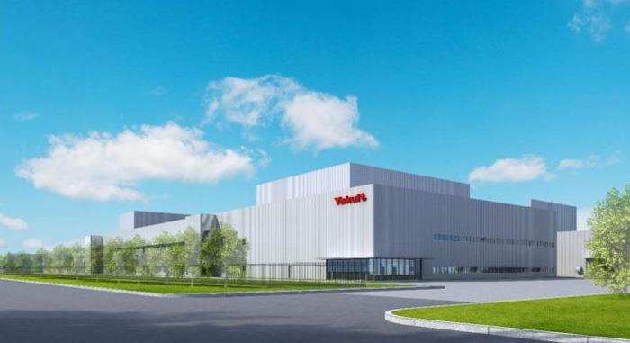 無錫ヤクルト第2工場完成予想図