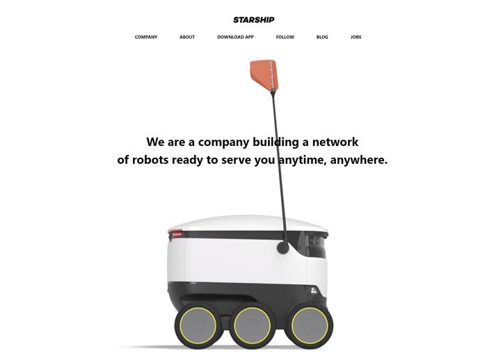 Starship社のWebページトップ画面