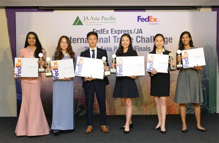 「フェデックス / ジュニア・アチーブメントインターナショナル・トレード・チャレンジ2019」の入賞者