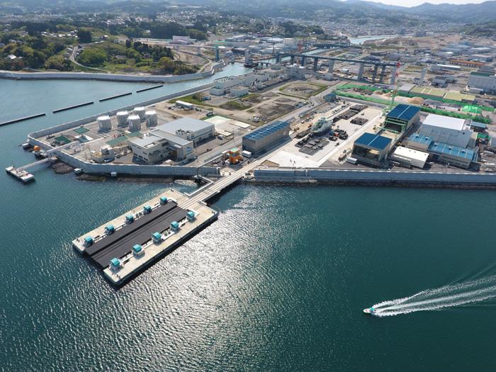 みらい造船所の現在の様子、先端部分にシップリフト