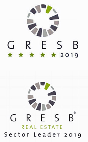 GRESBのリアルエステイト評価5 StarとGRESBのAsia Sector Leader