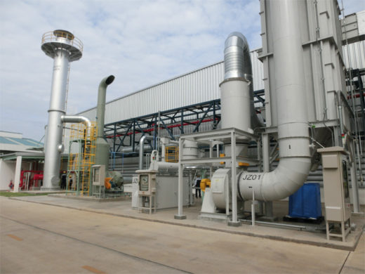樹脂コンパウンド工場の外観