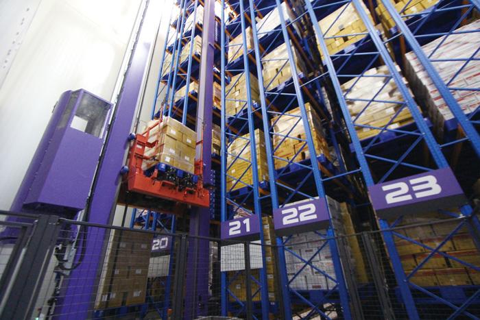 タイの食品メーカーに納入したパレット自動倉庫