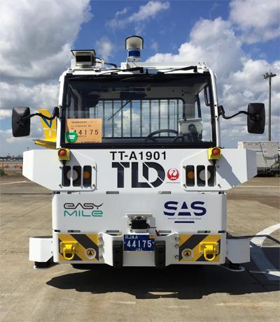 20190920jal2 - JAL、成田空港/トーイングトラクターで自動運転の実証実験実施