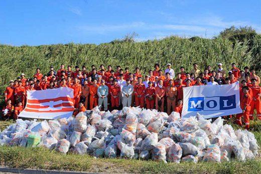 20191007mol1 520x347 - 商船三井/茨城・鹿島灘海岸で清掃活動