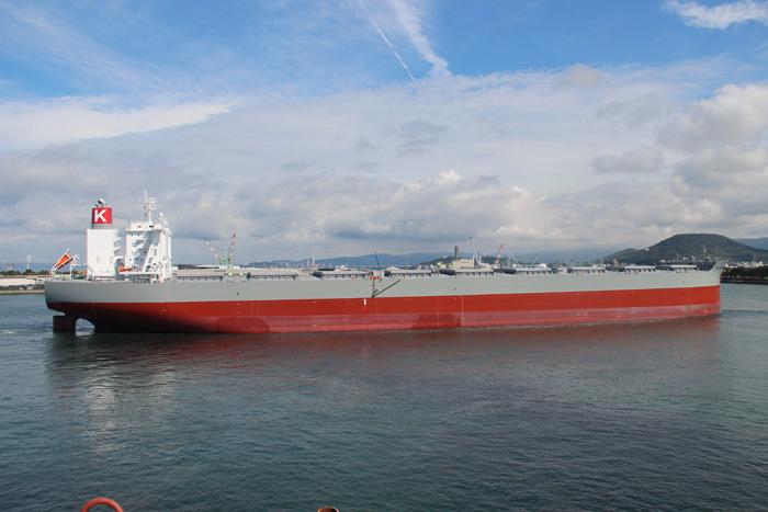 20191025kawasaki - 川崎汽船/JFEスチール向け20万重量トン型ケープサイズ竣工