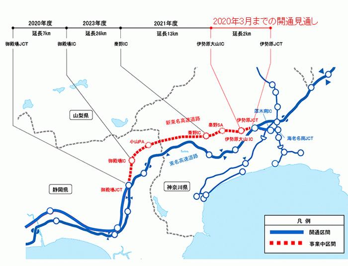 20191030nexcoc - 新東名/伊勢原JCT~伊勢原大山IC間開通、2020年3月に