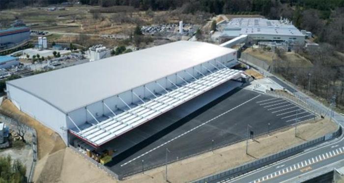 新倉庫の航空写真