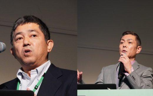 マンハッタンアソシエイツ 代表取締役 清水 博日本・韓国代表(左)、営業本部 シニアソリューションコンサルタント楢崎 芳樹氏