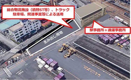 20191114jr1 520x317 - JR貨物/広島・東福山駅を改良、総合物流施設など整備