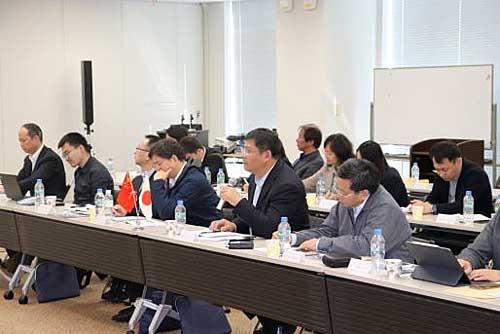 20191119nittsu - 日通/本社に中国訪日研修団来訪、中国での事業展開等説明