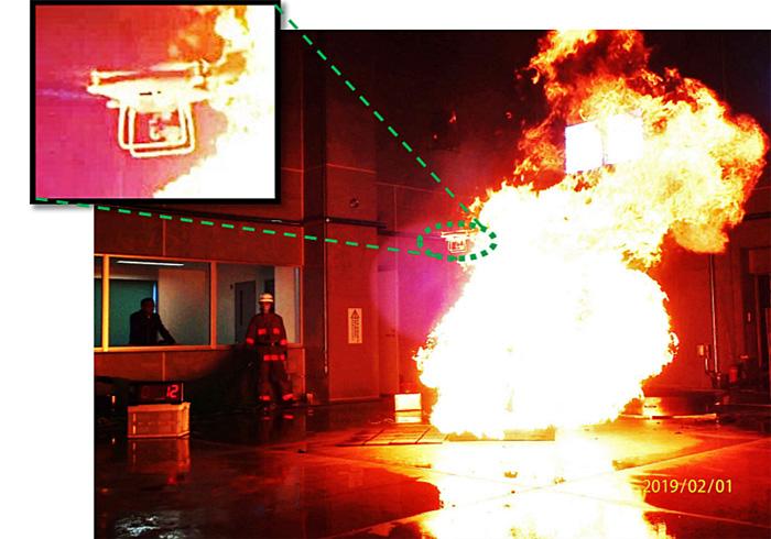 20191126syoubou3 - 総務省消防庁/ドローンで倉庫内等災害調査活用の適正度探る