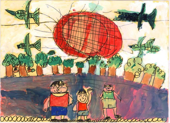 環境大臣賞 鹿児島県 持田 勇信さん(2年生)「ぼくとなか間たち」