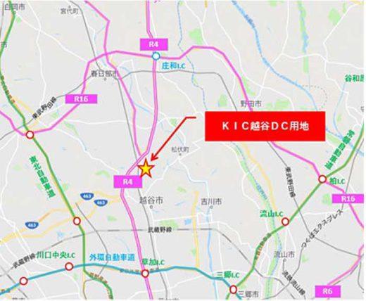 20191209kic1 520x428 - KIC/国道16号線内、埼玉県越谷市に1.1万m2物流施設建設