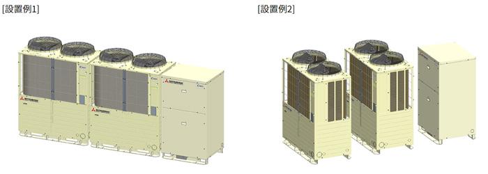 ノンフロン冷凍冷蔵コンデンシングユニット C-puzzle 「HCCV4001M」設置例