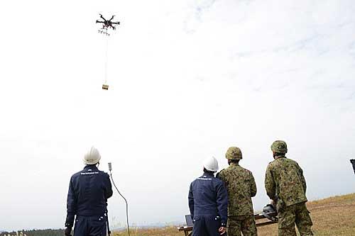20191213rikuji3 - 陸上自衛隊/大型ドローンで20kg超の物資輸送