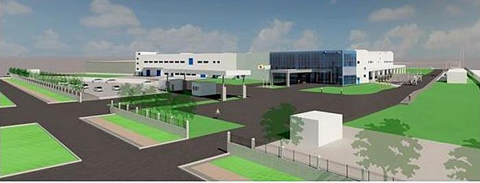 新工場外観図(鳥瞰)
