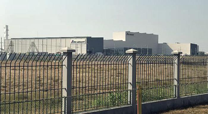ティラワ経済特区内にあるJFE Meranti Myanmar 社工場