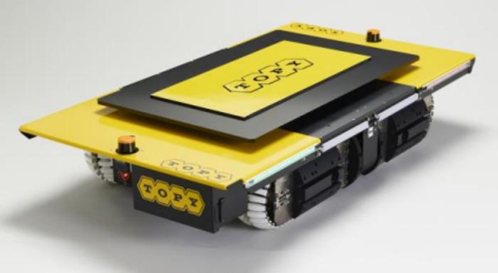 20191219topy1 - トピー工業/搬送支援AGVリモートを日通の物流現場に導入