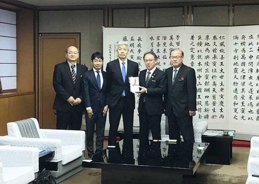 20191220mitsui 520x370 - 三井倉庫/首里城再建の支援金200万円を寄付