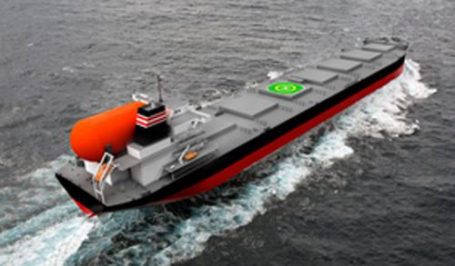 日本郵船のLNG燃料大型石炭専用船