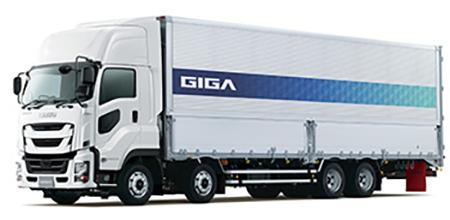 改良した大型トラック「ギガ」