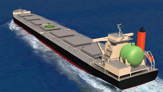 LNG燃料大型石炭専用船イメージ