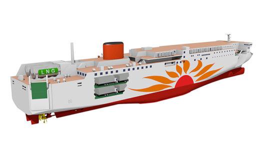 LNG燃料フェリーイメージ図