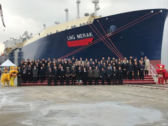 20200109mol - 商船三井/ロシア・ヤマルLNGプロジェクト向け新造LNG船命名