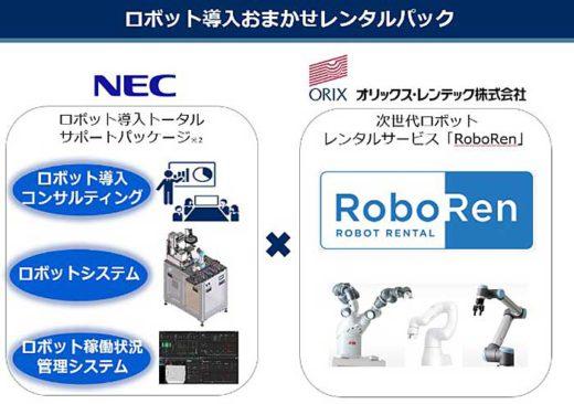 20200120403 520x366 - オリックス・レンテック、NEC/ロボット導入支援で協業